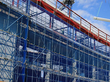 Application of construction scaffolding